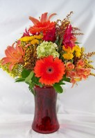 Shades of Fall Vase Arrangement
