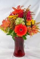 Shades of Fall Vase Arrangement
