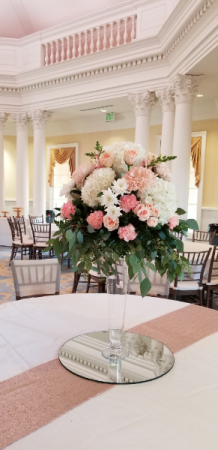 Shades of Pink  Elevated Event Flowers