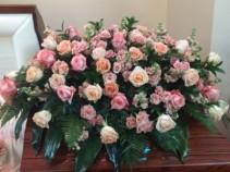 Shades of Pink Rose Casket Spray Sympathy