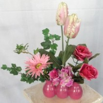 Shades of Pink Silk/Permanent Arrangement