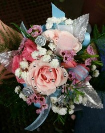 Shades of Pink Wrist Corsage