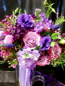 Shades of purple Bridal Bouquet