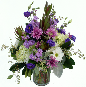 Shades of Purple Vase Arrangement