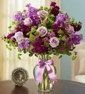 Shades Of Purple  Vased Arrangement