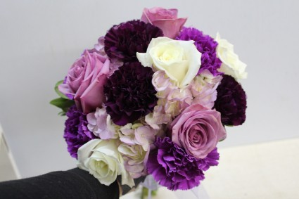 Wedding Bouquet Shades of purple