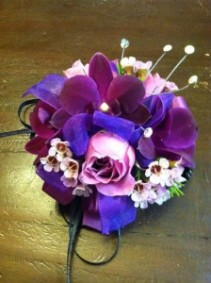 Shades of Purple Wristlet Corsage