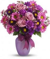 shades of purples Florial Arrangement