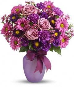shades of purples Florial Arrangement