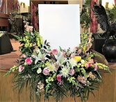 Shades of Spring Floral Framed Standing Spray