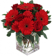 Shades or Red Vase Arrangement