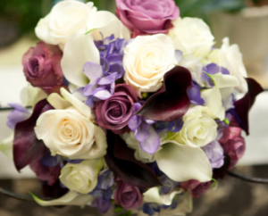 Shades Purple & Magenta Hand Tied Bridal Bouquet in Canon City, CO   TOUCH OF LOVE FLORIST AND WEDDINGS