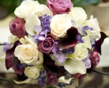Shades Purple & Magenta Hand Tied Bridal Bouquet