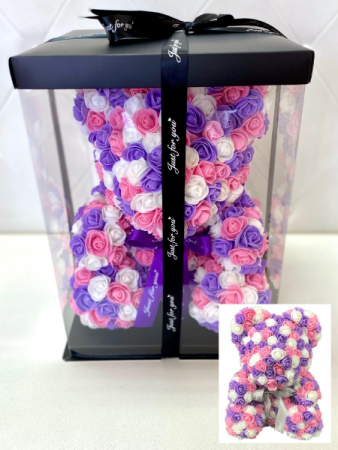 *SOLD OUT* ROSE BEAR - PINK/PURPLE/WHITE