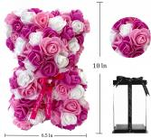SHAKE IT UP ROSE BEAR - PINK & WHITE