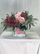 Shall I be Mother? Fresh Cut Flowers in Custom Tin