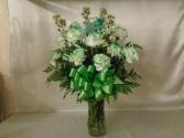 Shamrocks and Flowers Vase Arrangement