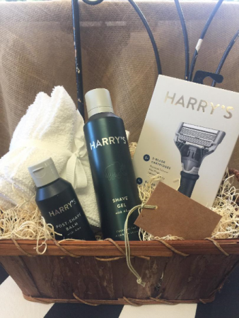 Shaving gift basket Father's Day