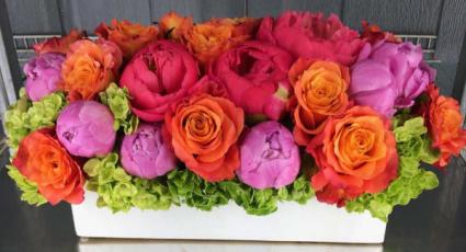 Summer colors rectangular flowers