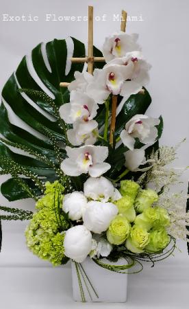Shavout  vase Arrangement in Miami, FL   EXOTIC FLOWERS OF MIAMI