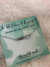 She didn't have to be perfect necklace