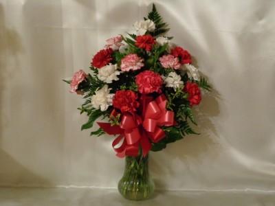 She  Loves Carnations Arrangement