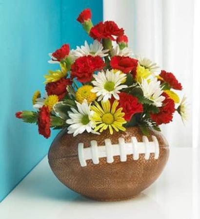 She Loves Football n Flowers