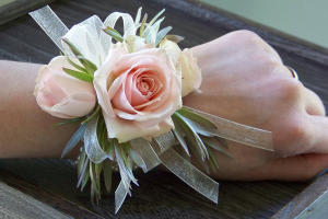 Sheer Pink Corsage in Winston Salem, NC | RAE'S NORTH POINT FLORIST INC.