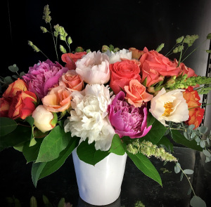 She's A Lady Classic arrangement of Roses and Peonies in Bethel, CT   BETHEL FLOWER MARKET OF STONY HILL