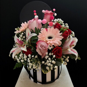 She's A Lady Hat box in Chesterfield, MO | ZENGEL FLOWERS AND GIFTS