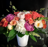 She's a Lady Old - World painterly Arrangement of Roses and Peonies