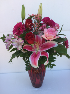 She's Spectacular Roses, Lilies & Floral Assortment in Clearwater, FL | FLOWERAMA