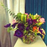Shi Shi Bowl Vase Arrangment