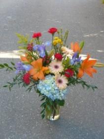 Shiela's Garden Glass Vase  Shown at $80.00