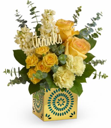 Shimmer Of Thanks All-Around Floral Arrangement