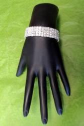 Shimmering Bracelet Wrist Corsage Band