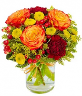 Shimmering Harvest Mason Jar Arrangement