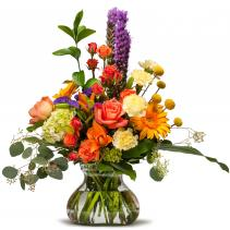 Shimmering Papaya Floral Arrangement