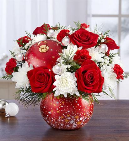 Shimmering Stars Ornament 1-800 Flowers Arrangement