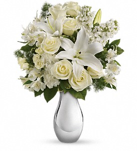 Shimmering White Bouquet Teleflora in Springfield, IL | FLOWERS BY MARY LOU INC