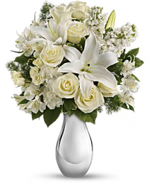 Shimmering White Christmas Bouquet