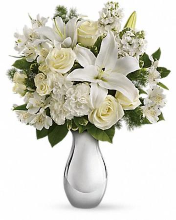 "Shimmering White T407-1 16""(w) x 18.5""(h)"