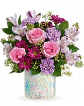 Shine in style vase bouquet