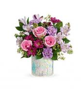 Shine on bouquet  Vase