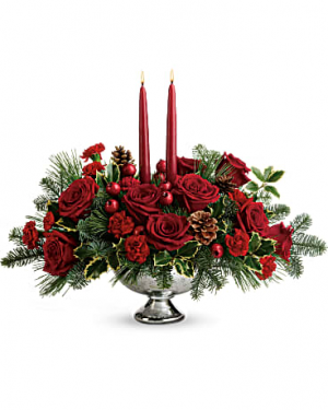 Shining Bright Centerpiece Christmas in Las Vegas, NV   Blooming Memory