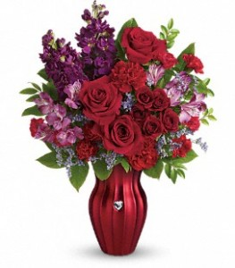 Shining Heart Bouquet Vase arrangement in Canon City, CO | TOUCH OF LOVE FLORIST AND WEDDINGS