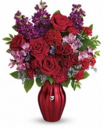 Shining Heart Vase Arrangement