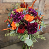 Shining Jewel Tones Hand Tied Bouquet