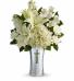 CRIMSON & CREAM Vase of Holiday Flowers