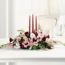 Shining Splendor EV18-11 Fresh Oblong Centerpiece w/candles